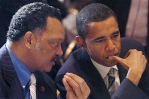 Jesse Jackson and Senator Barack Obama
